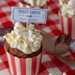 Popcorn cupcakes til filmaften