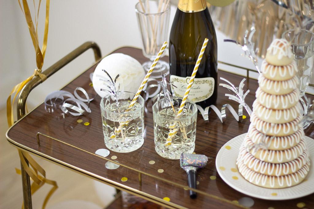 Champagnedrink til nytår