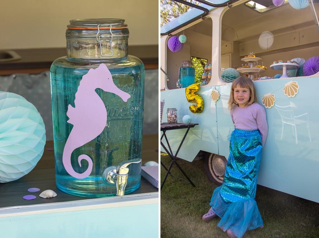 Ideer og opskrifter til pigefødselsdag med havfrue tema