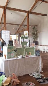 Frog & Pencil set up for the Oxnead Wedding Show