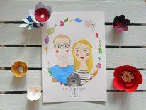 Frog & Pencil competition winners: Watercolour Couple Portrait.