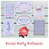 Frog & Pencil Bridal Party Postcards available on Etsy