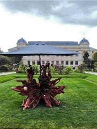 Haegue Yang sculpture in Jardin des Plantes Paris during F.I.A.C.