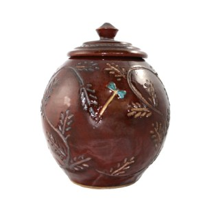 Round Jar Red with Lid