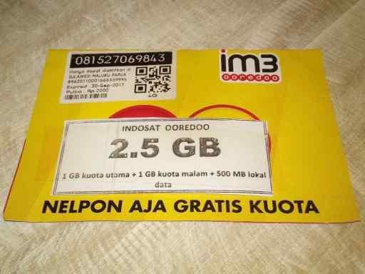 インドネシア INDOSAT SIM