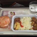 バティック航空の機内食