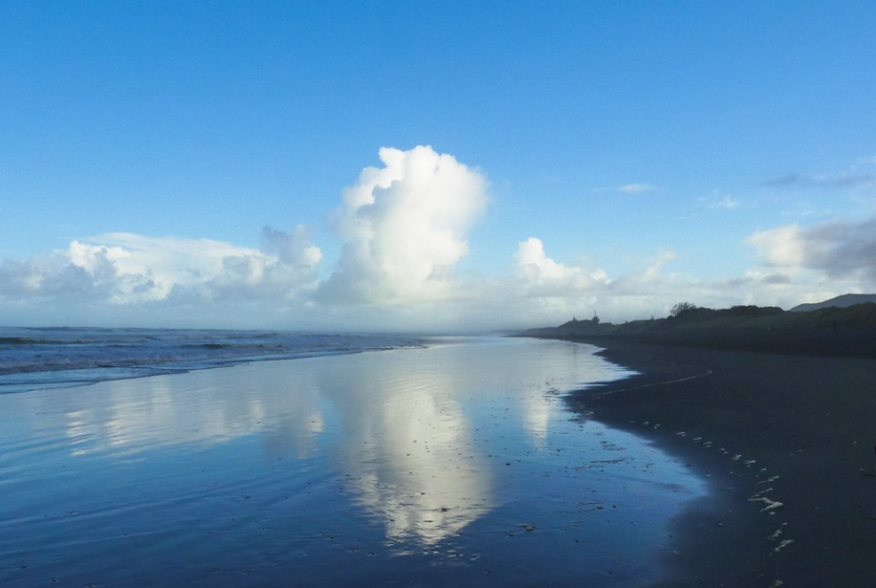 Clouds at the beach