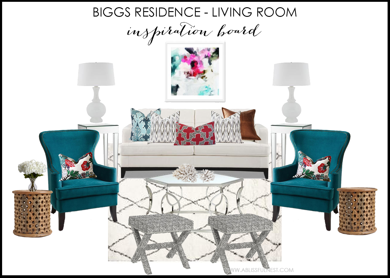 biggs residence living room design board by a blissful nest