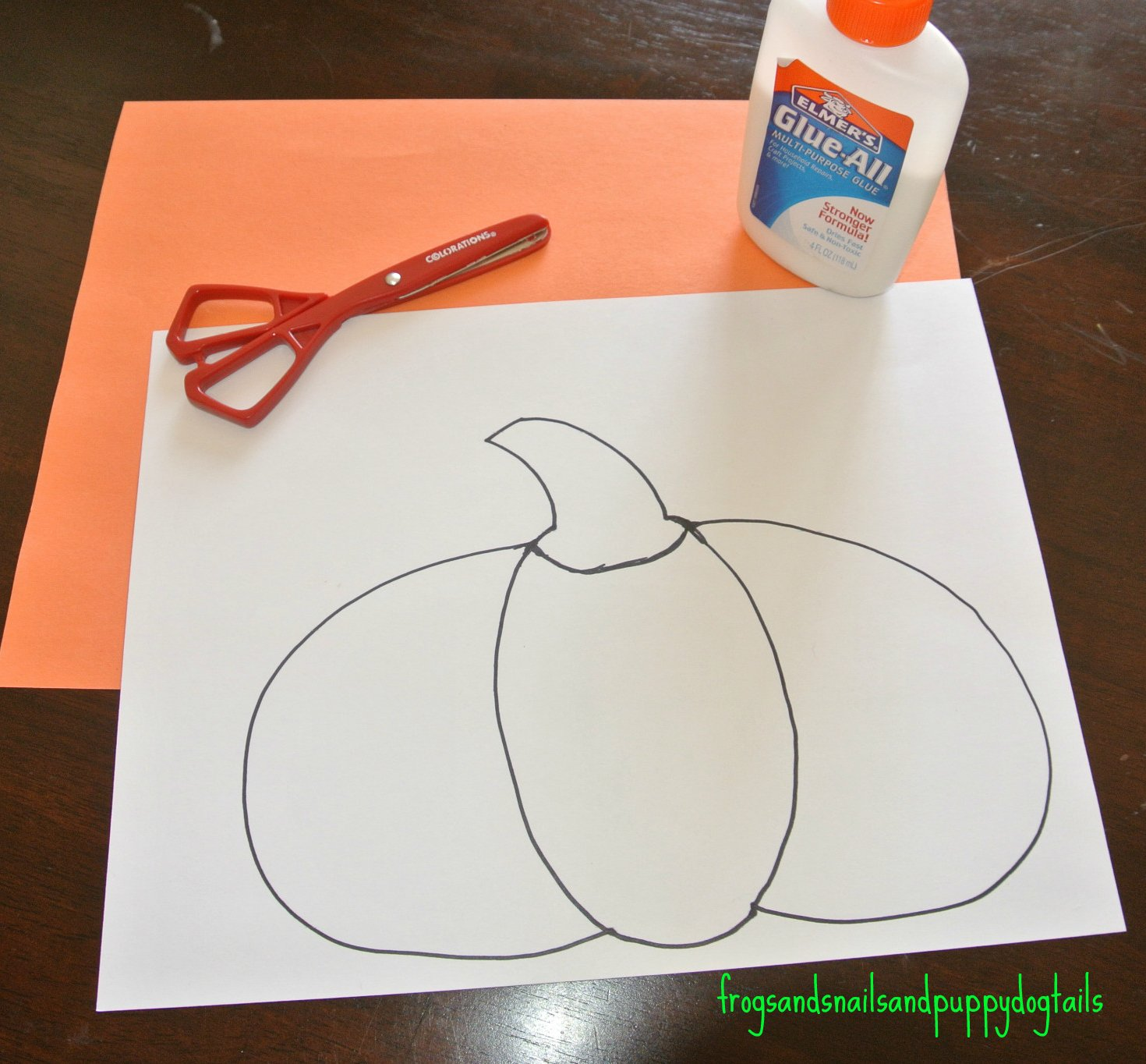 P Is For Pumpkin Pumpkin Poem Scissor Skills Amp Color