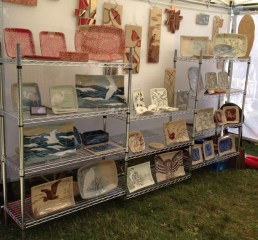 Booth display, Marblehead Festival of Arts, 2014