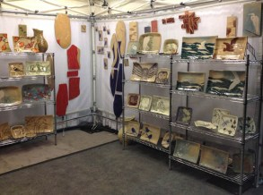 Booth display, Paradise City Arts, Northampton, 2014