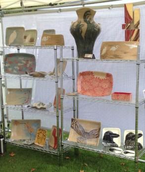 Booth display, Woodstock Art Festival, 2014