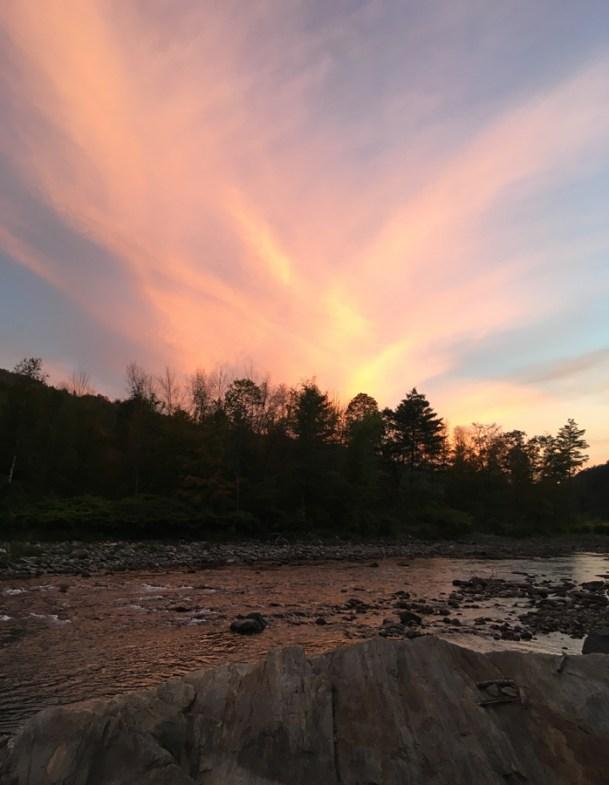 Sunset, White River, Stockbridge, Vermont