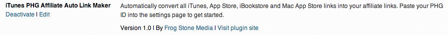 iTunes PHG Affiliate Auto Link Maker Plugin Page