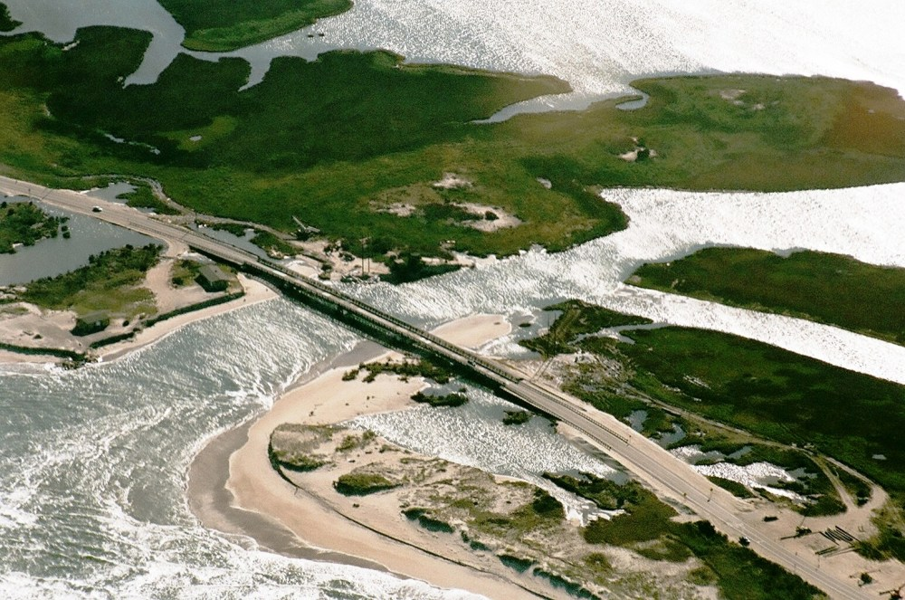 Aerial Photos of Rodanthe, NC New Bridge Over Inlet   (2/3)