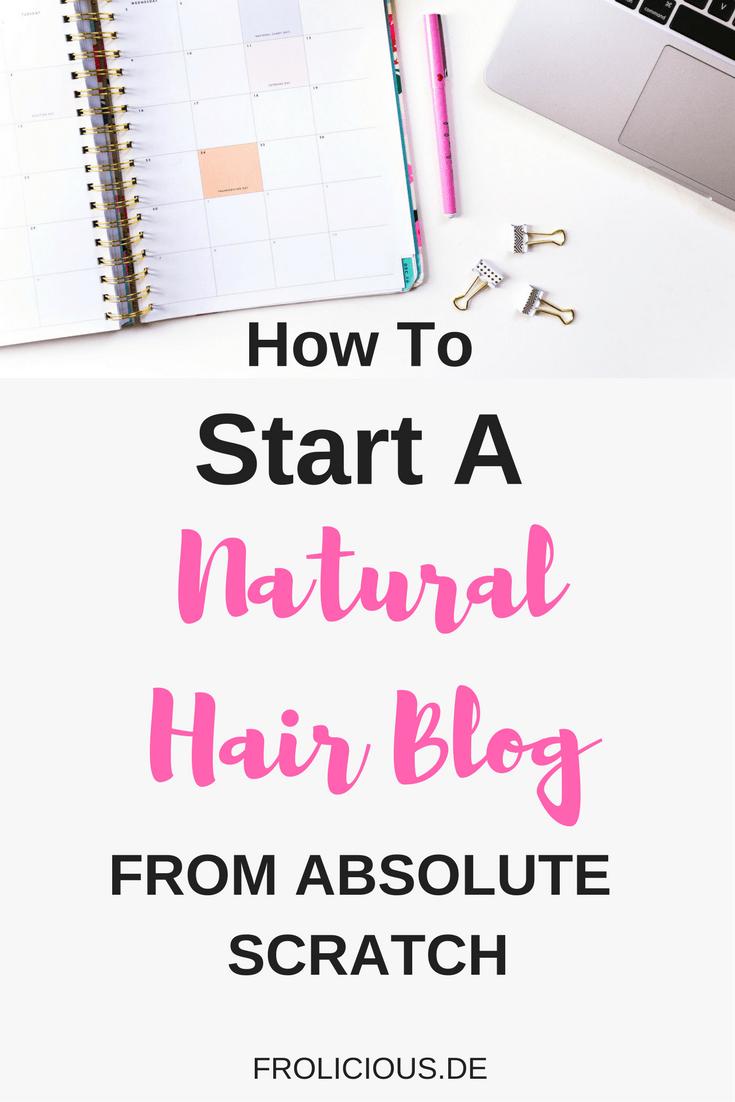 start a natural hair blog