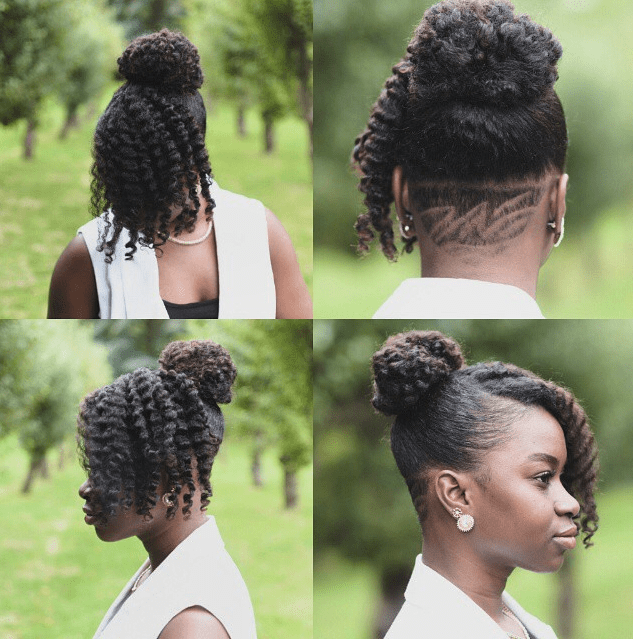 Sashabasha and her legendary Undercut - natural hairstyles