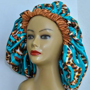 Nkechi XL Reversible Silk Lined Bonnet