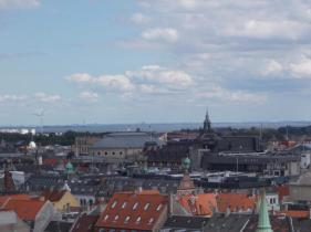 Copenhagen with Malmö in the Distance