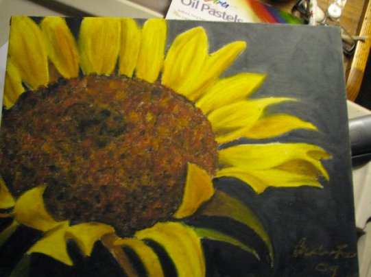 """Sunflower"" Oil Pastel 2010"