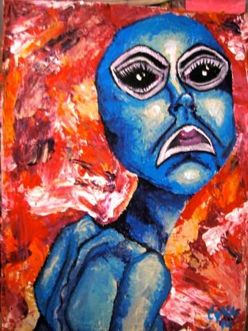 """Alienesque"" Acrylic 2014"