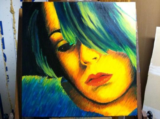 Self Portrait in Acrylic 2013