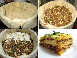 пирог из лаваша с мясом очень быстро ...