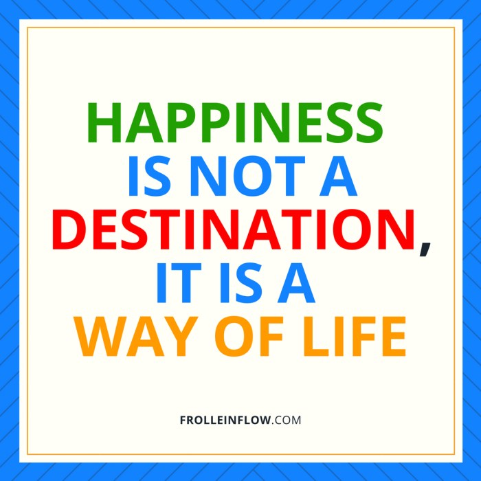 Quote HAPPINESS IS NOT A DESITINATION, IT IS A WAY OF LIFE_1