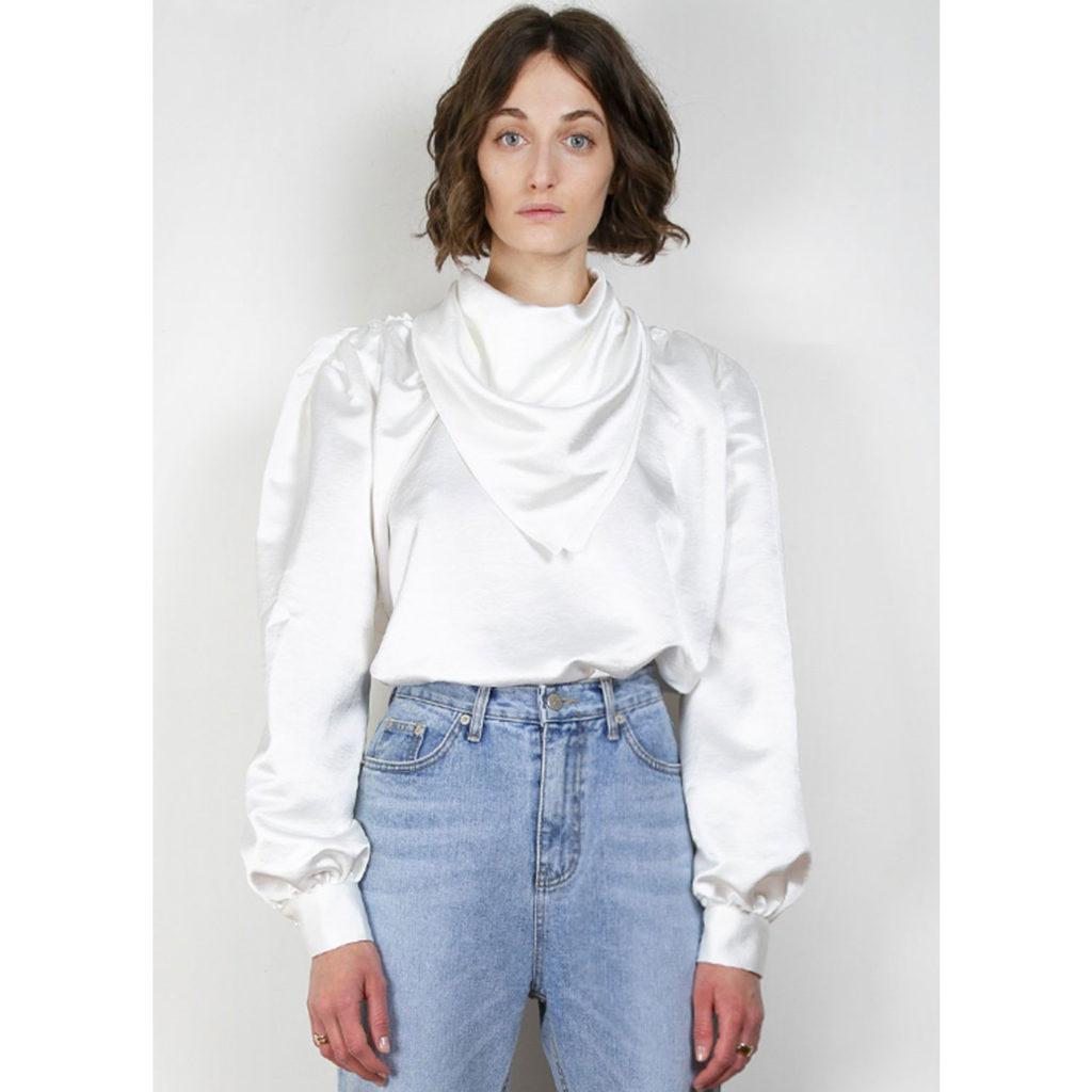 Weiße Bluse von The Frankie Shop