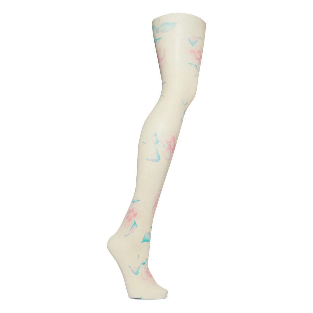 Pastell im Herbst: Strumpfhose von Ganni x Swedish Stockings