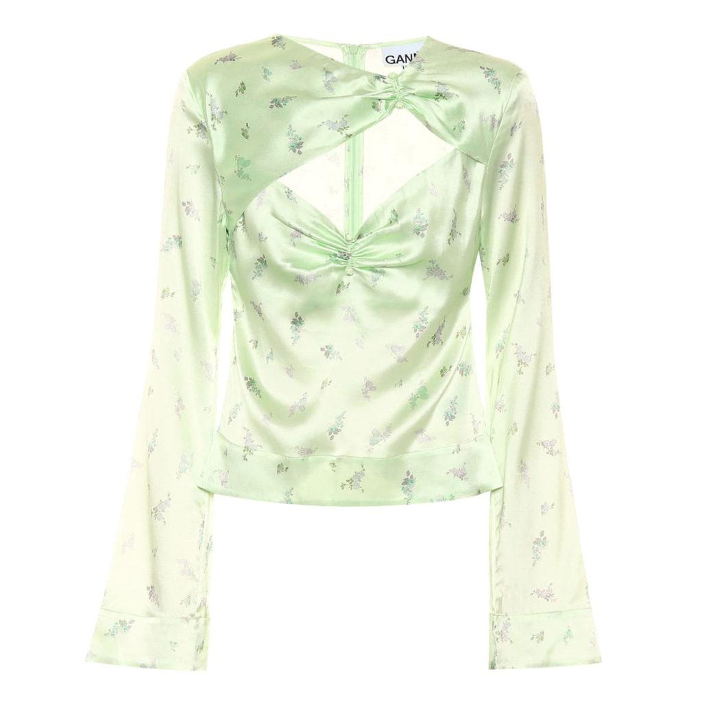 Lilac & Lime: Bluse von Ganni