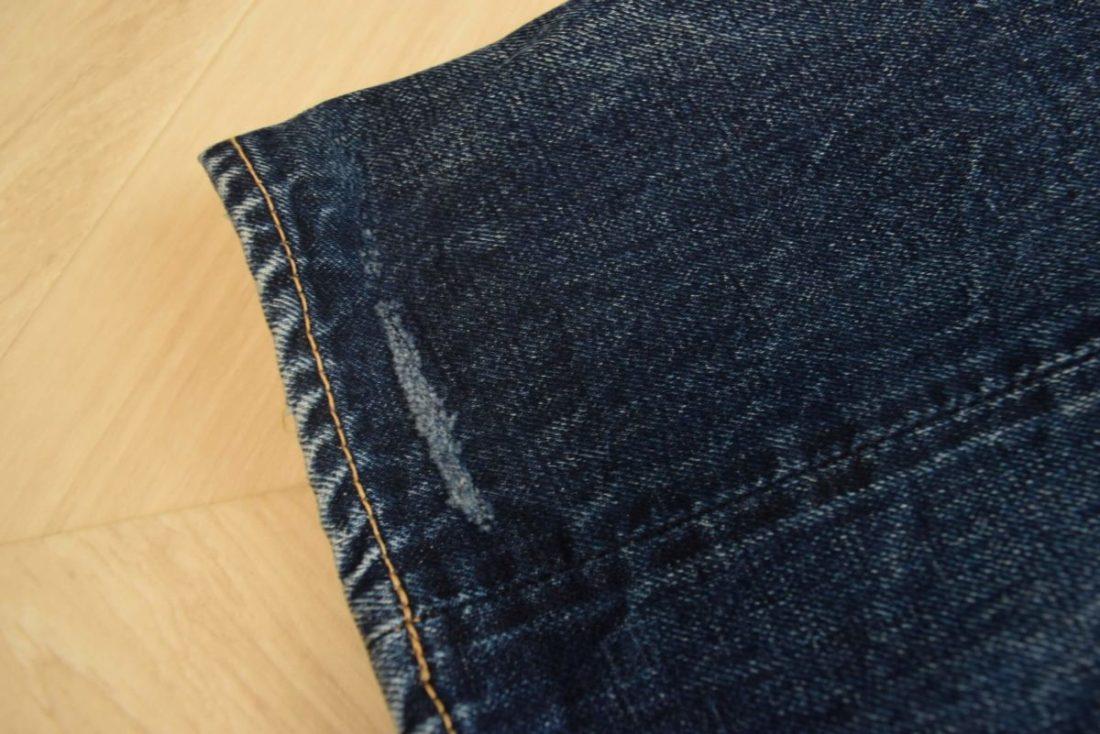 ボンクラデニムの裾部分
