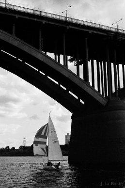Molitovka Bridge with Boat