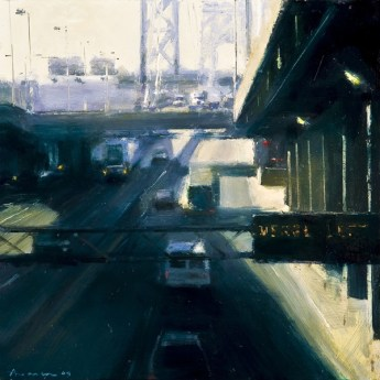 upper-deck-george-washington-bridge-2009-oil-on-panel-12-x-12-inches