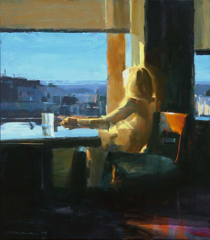 Woman-by-a-Window-29x24
