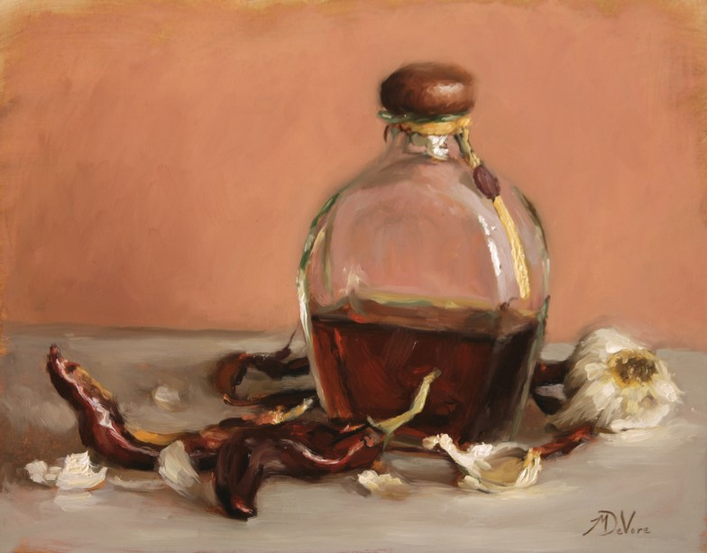 Tequila - 2014 - Oil on Panel - 11 x 14 - https://from1artist2another.wordpress.com/2015/03/28/michael-devore-painter-us-colorado/