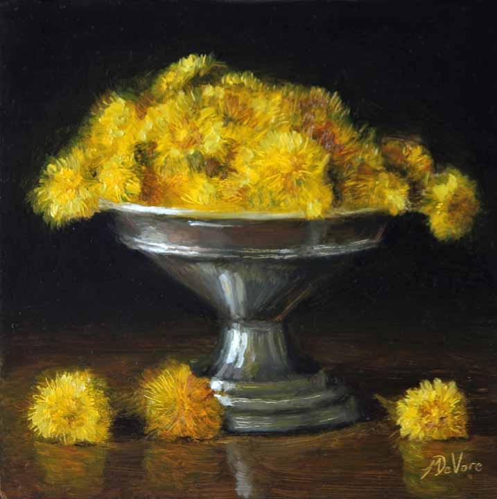 Dandelions - Michael DeVore - https://from1artist2another.wordpress.com/2015/04/01/michael-devore-painter-us-colorado/