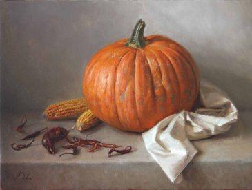 Great Pumpkin - Michael DeVore - https://from1artist2another.wordpress.com/2015/04/01/michael-devore-painter-us-colorado/