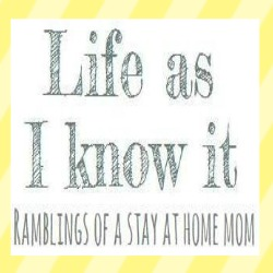 Life as I know it blog button