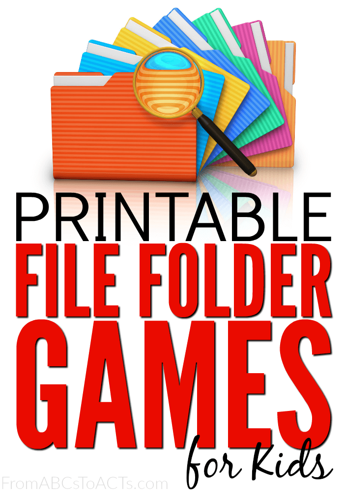 75 Printable File Folder Games For Kids From Abcs To Acts