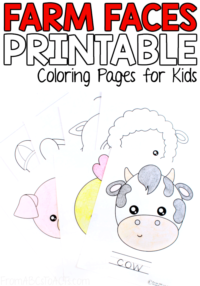 Farm Animal Coloring Pages For Kids From Abcs To Acts