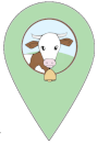Point Google Map la ferme d'aglards - avec le logo de la ferme d'Anglards incrusté