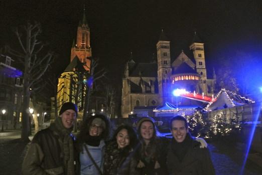 At the Kerstmarkt (Christmas Market) on the Vrijthof in Maastricht