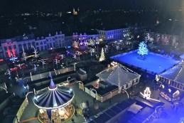 Kerstmarkt from the top of the Reuzenrad (ferris wheel)