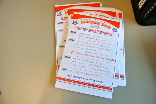 Flyers for the American Week