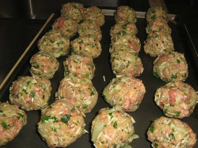 Uncooked Meatballs - Just Rolled and Ready to Cook!