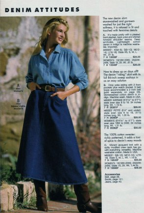 denim skirt 1970 2