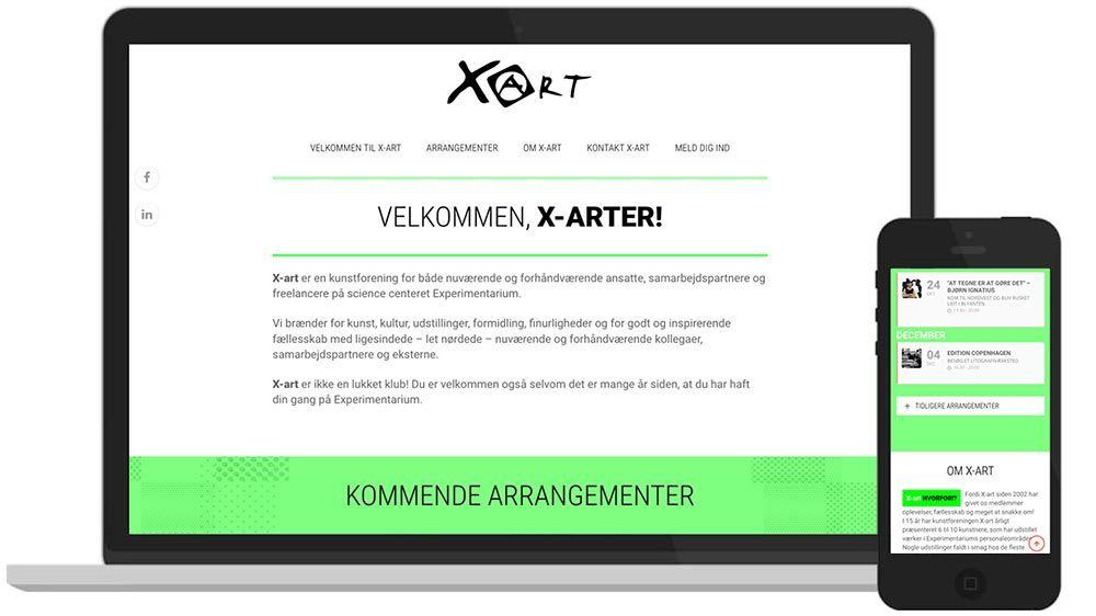 WordPress-hjemmeside: Kunstforening