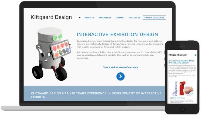 Klitgaard Design – Hjemmeside