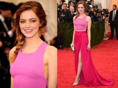My absolute favorite - I love how she incorporates bright spring time color and uses the crop top trend here. Her hair also looks so carefree and she looks comfortable, unlike some of the girls who were in huge ball gowns.